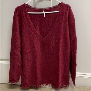 NWOT Free People Sweater - Wine